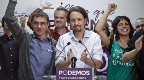Η ηγετική ομάδα των Podemos κατά την διάρκεια της καταστατικής συνέλευσης του κινήματος